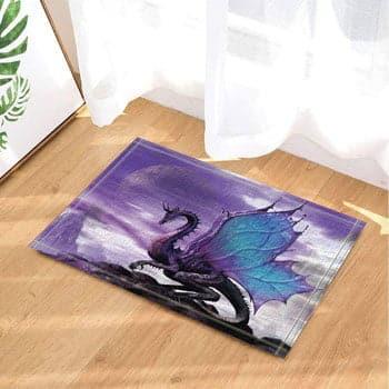 Tapis Dragon Papillon Fantasy sur le toit du monde 60 x 40 cm