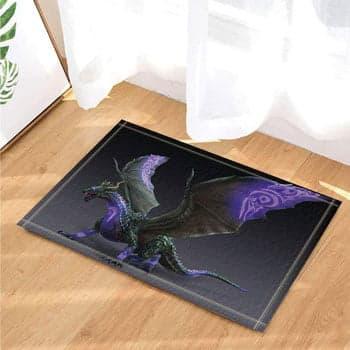 Tapis Dragon Fantasy avec symboles sur son corps 80 x 50 cm