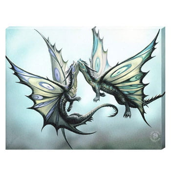 "Impression sur toile Dragons Papillons ""Fly Away With Me"" - Design officiel Anne Stokes"