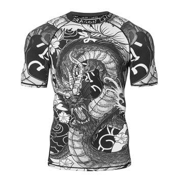 T-Shirt moulant Dragon asiatique - Lafroi