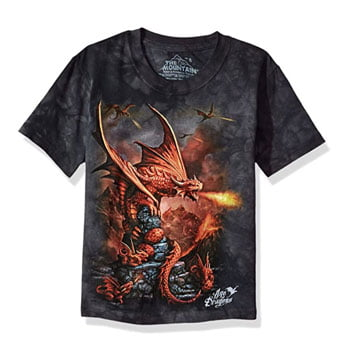 "T-Shirt ""Fire Dragon"" Anne Stokes - The Mountain"