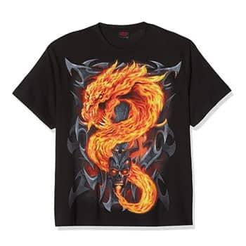 """T-Shirt """"Fire Dragon"""" - Spiral"""