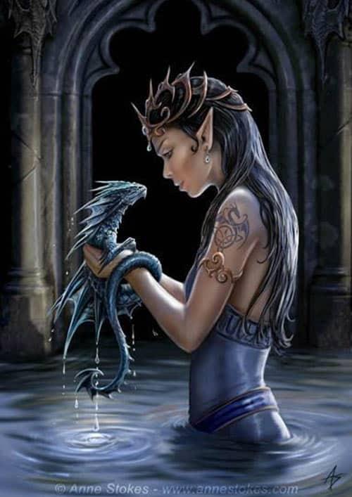 Anne Stokes Water Dragon